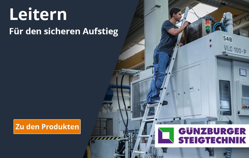 Leitern & Tritte für den sicheren Aufstieg Günzburger Steigtechnik Clendo Shop Online kaufen