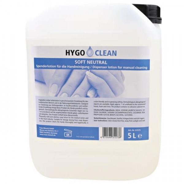 HygoClean Soft Neutral Professionelle Waschlotion 5l
