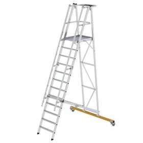 Günzburger Steigtechnik Plattformleiter klappbar und fahrbar 12-Stufig