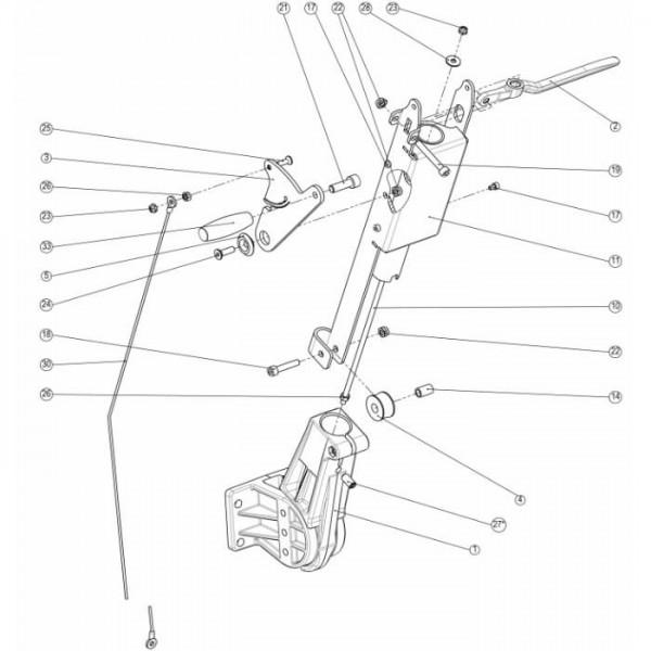 Wetrok Bedienkonsole Unterteil für Duomatic Esprit Zeichnung