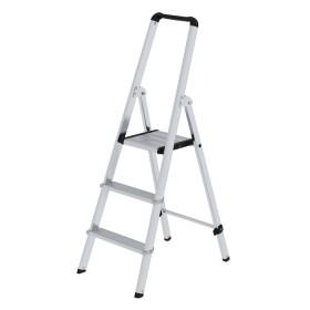 Günzburger Steigtechnik ML Stufen-Stehleiter einseitig begehbar Aluminium natur