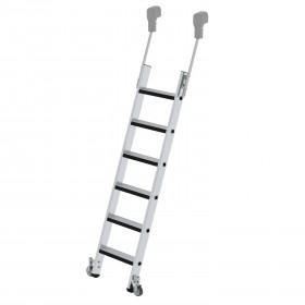 Günzburger Steigtechnink Stufen-Regalleiter fahrbar mit relax step