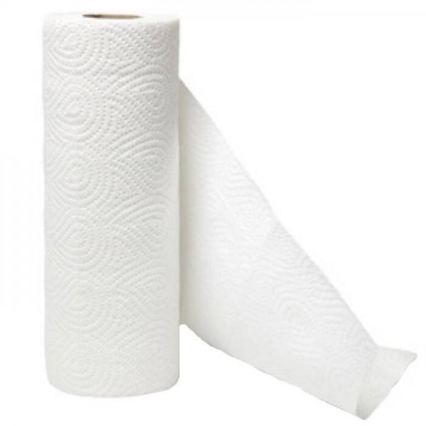 Küchenrolle 3-lagig 50 Blatt Weiß 4er Pack