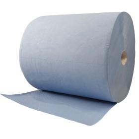Putztuchrolle 3-lagig 1000 Blatt 36x34 cm Blau Zellstoff