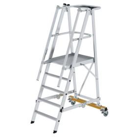 Günzburger Steigtechnik Plattformleiter klappbar und fahrbar 5-Stufig
