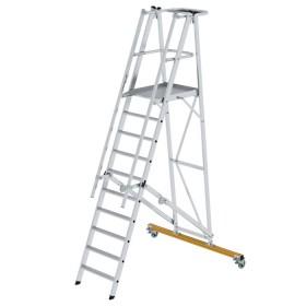 Günzburger Steigtechnik Plattformleiter klappbar und fahrbar 10-Stufig