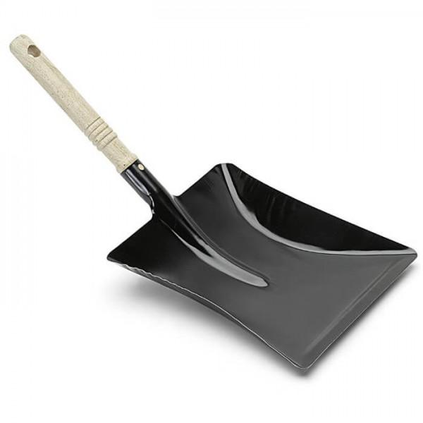 Nölle Kehrschaufel Metall Schwarz mit Holzgriff